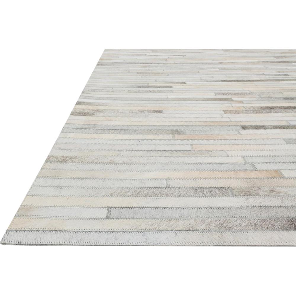 Dowd Rustic Modern Ivory Cowhide Stripe Rug - 5x7'6