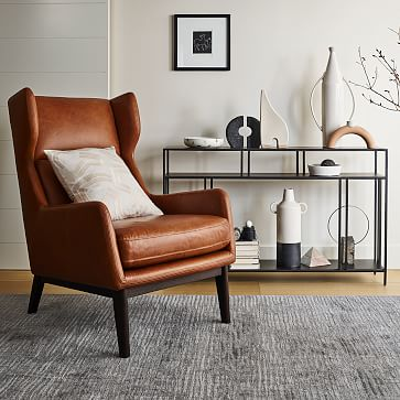 Ryder Leather Chair, Saddle Leather, Nut, Dark Walnut