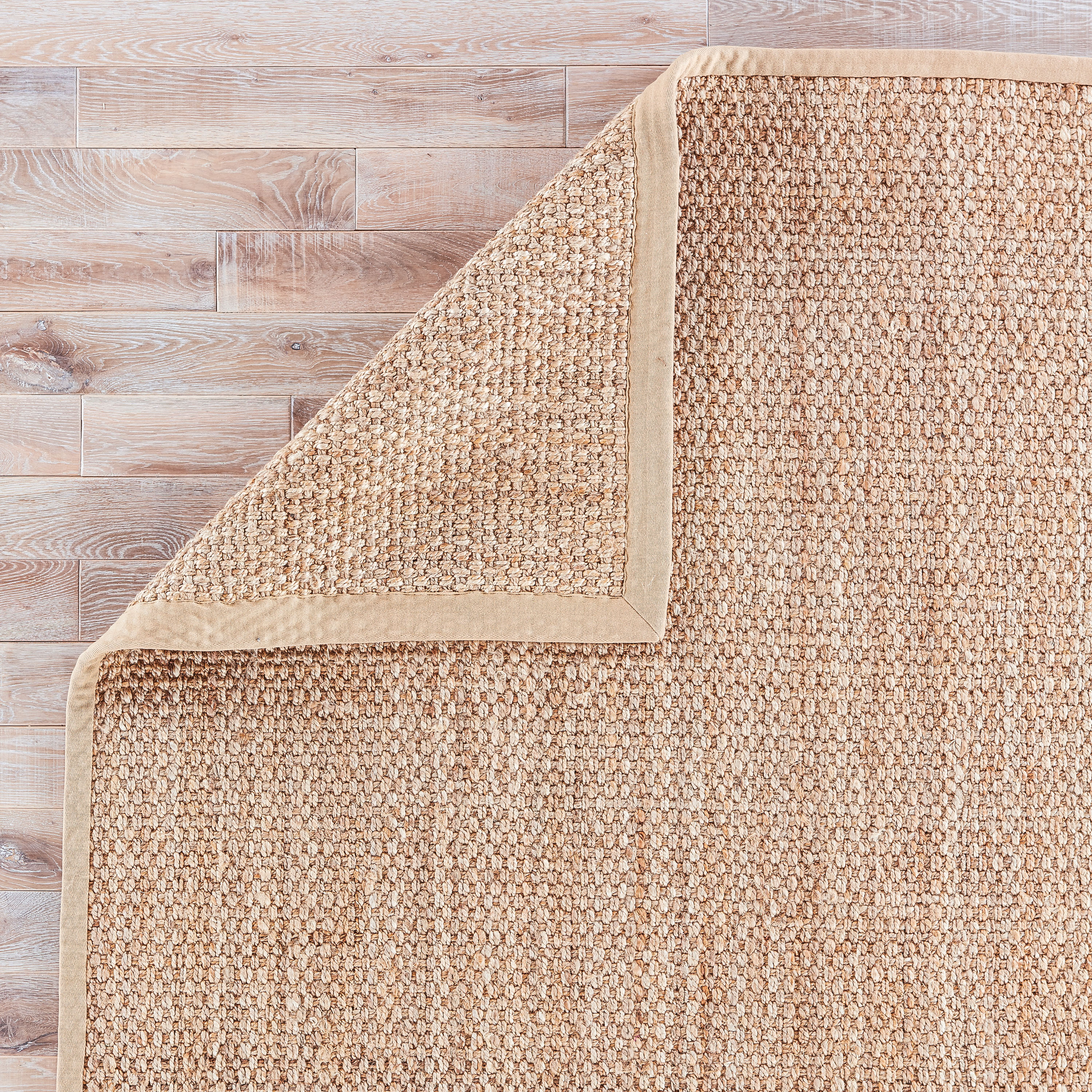 Adesina Natural Solid Beige Area Rug (8' X 10')