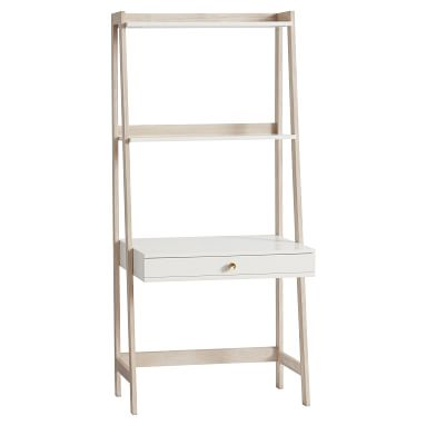 Highland Wall Desk, Simply White/Water-Based Weathered White