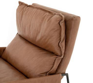 Hugh Leather Armchair, Chaps Saddle