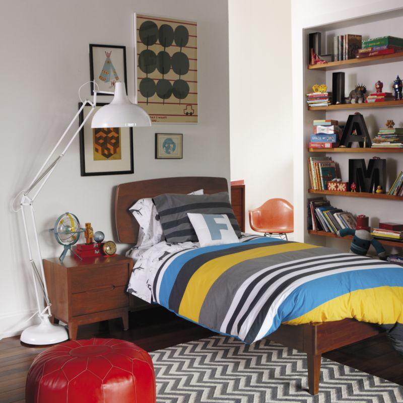 Ellipse Walnut Mid Century Full Bed