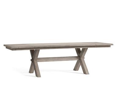 Toscana Extending Dining Table, Medium, Gray Wash