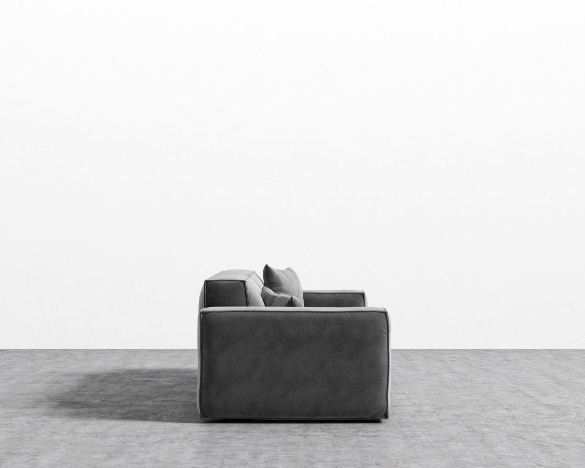 Porter Sofa - Glacier Grey Black Plastic
