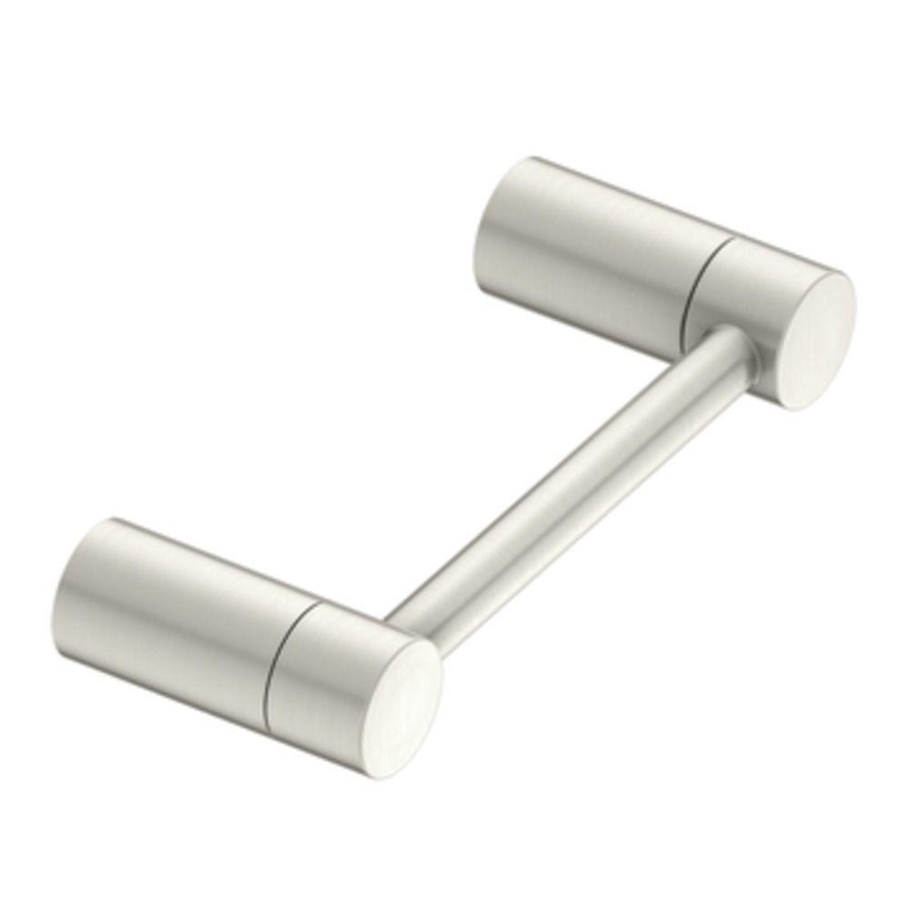 MOEN Align Pivoting Double Post Toilet Paper Holder in Brushed Nickel