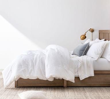 Waffle Weave Comforter, Full/Queen, White