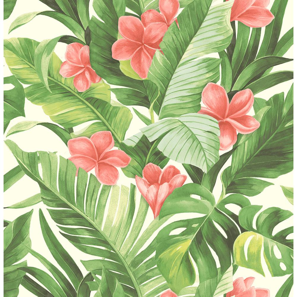 Tropical Paradise Peel And Stick Wallpaper, Multi-Color ...