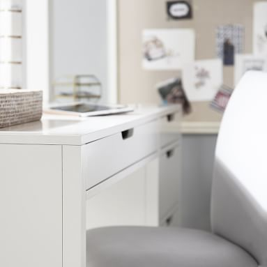 Rhys Desk, Weathered White/Simply White