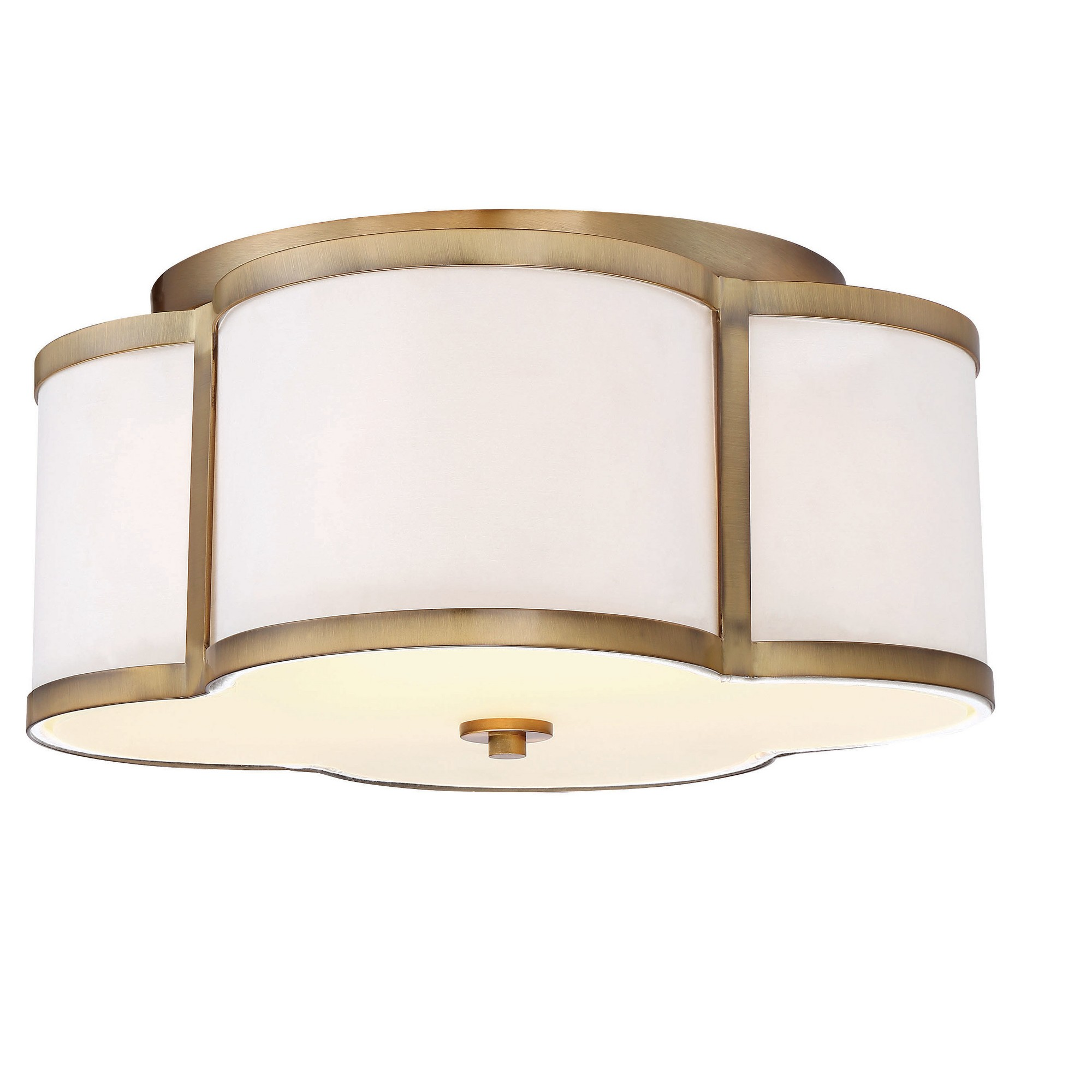 Semi Flush Mount Ceiling Lights With White Fabric Shade Set Of 3 Filament Design Target