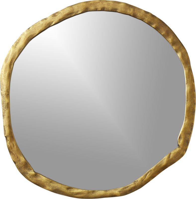 """Abel Round Mirror 34"""""""