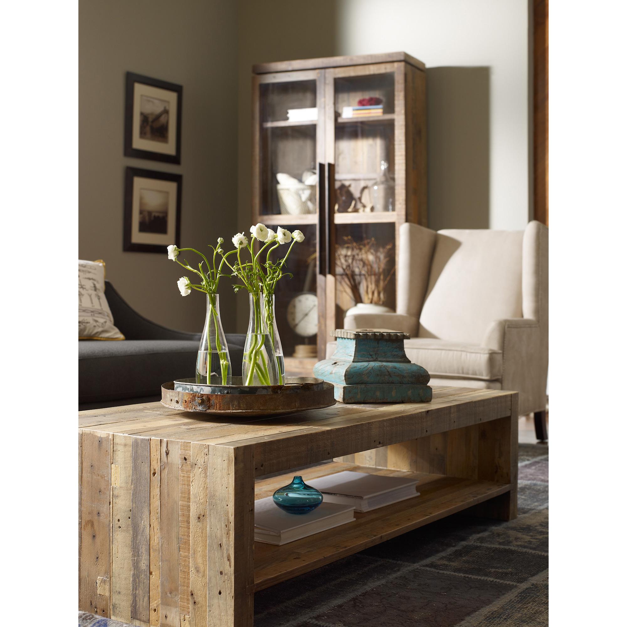 Wynn Modern Rustic Lodge Chunky Reclaimed Wood Rectangle Coffee Table