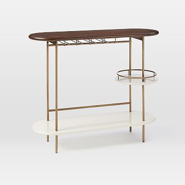 Tiered Bar Console, Parchment