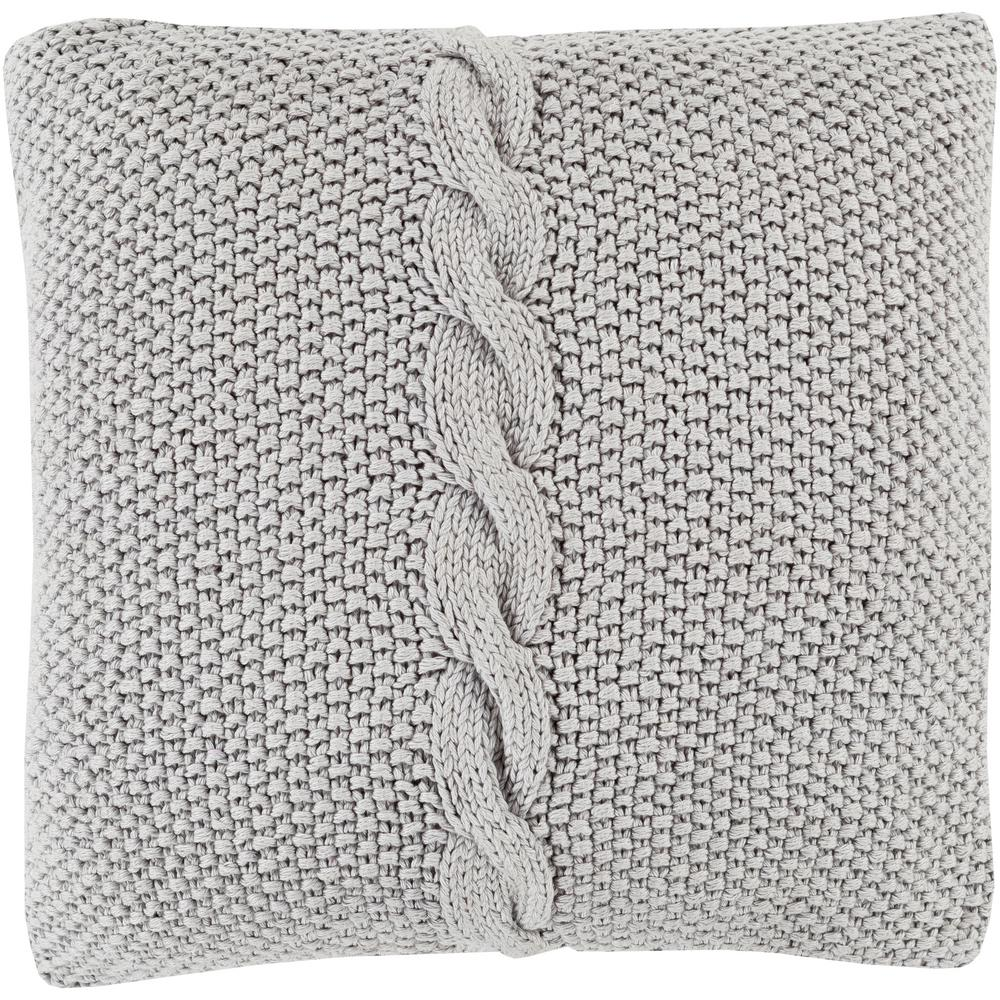 Anaco Poly Euro Pillow, Medium Gray