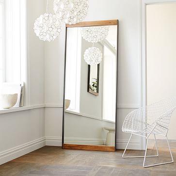 Industrial Floor Mirror, Mango Wood