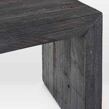 "Emmerson Dining Bench 58"", Ink Black Pine"