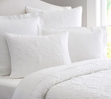 Washed Cotton Quilt, Full/Queen, White