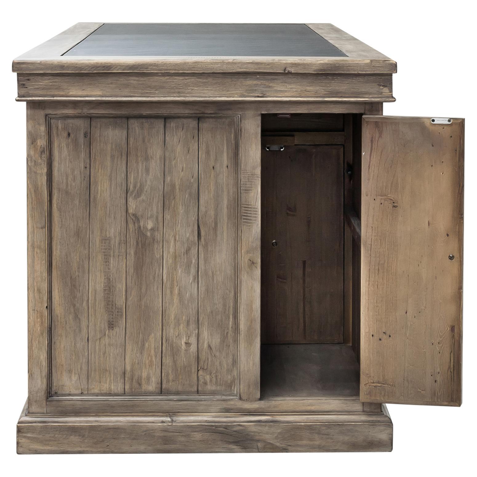 Ronin Rustic Lodge Warm Pine Wood Classic Desk