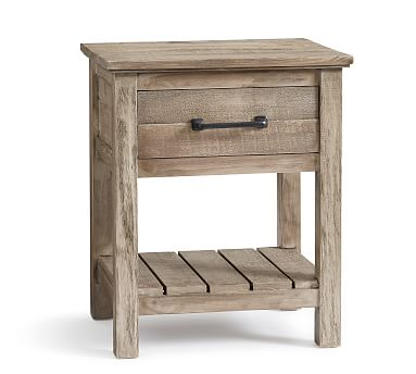 Paulsen Reclaimed Wood Nightstand, Cinder Gray