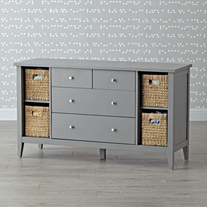 Kids Midway Wide Grey Dresser