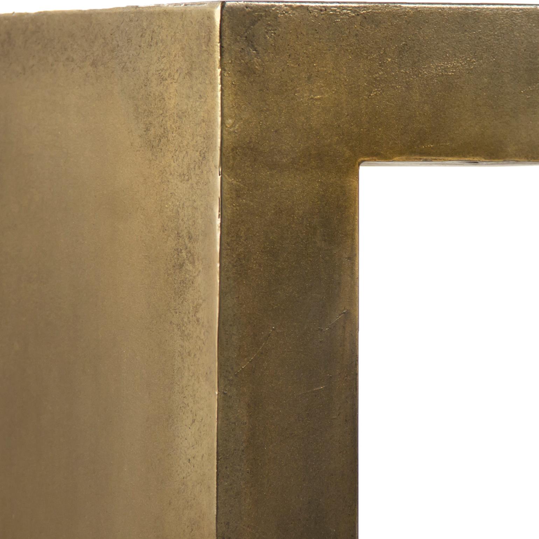 Irvine Industrial Modern Rectangular Brass Gold Iron Coffee Table