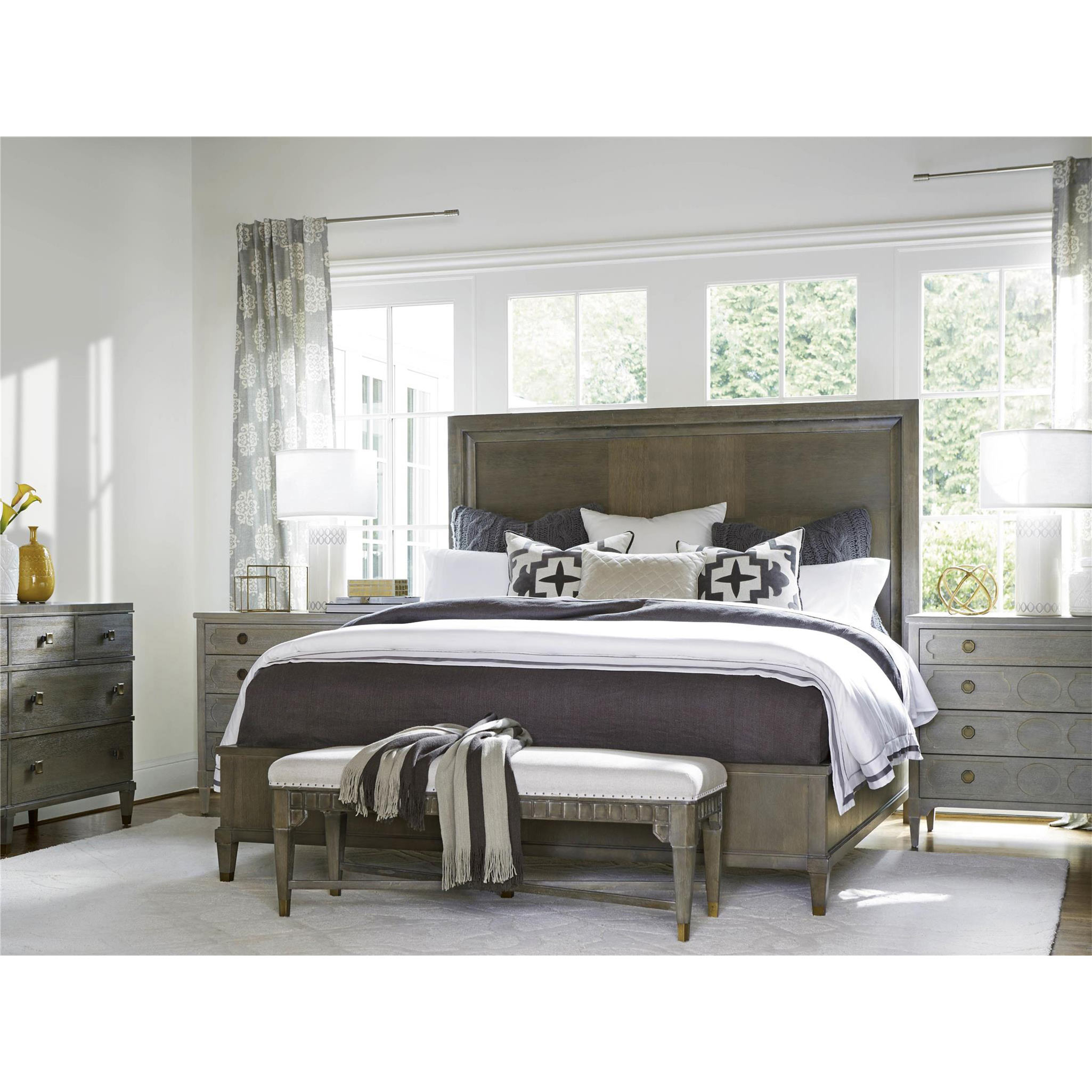 Sylvia French Country Grey 4 Drawers Dresser