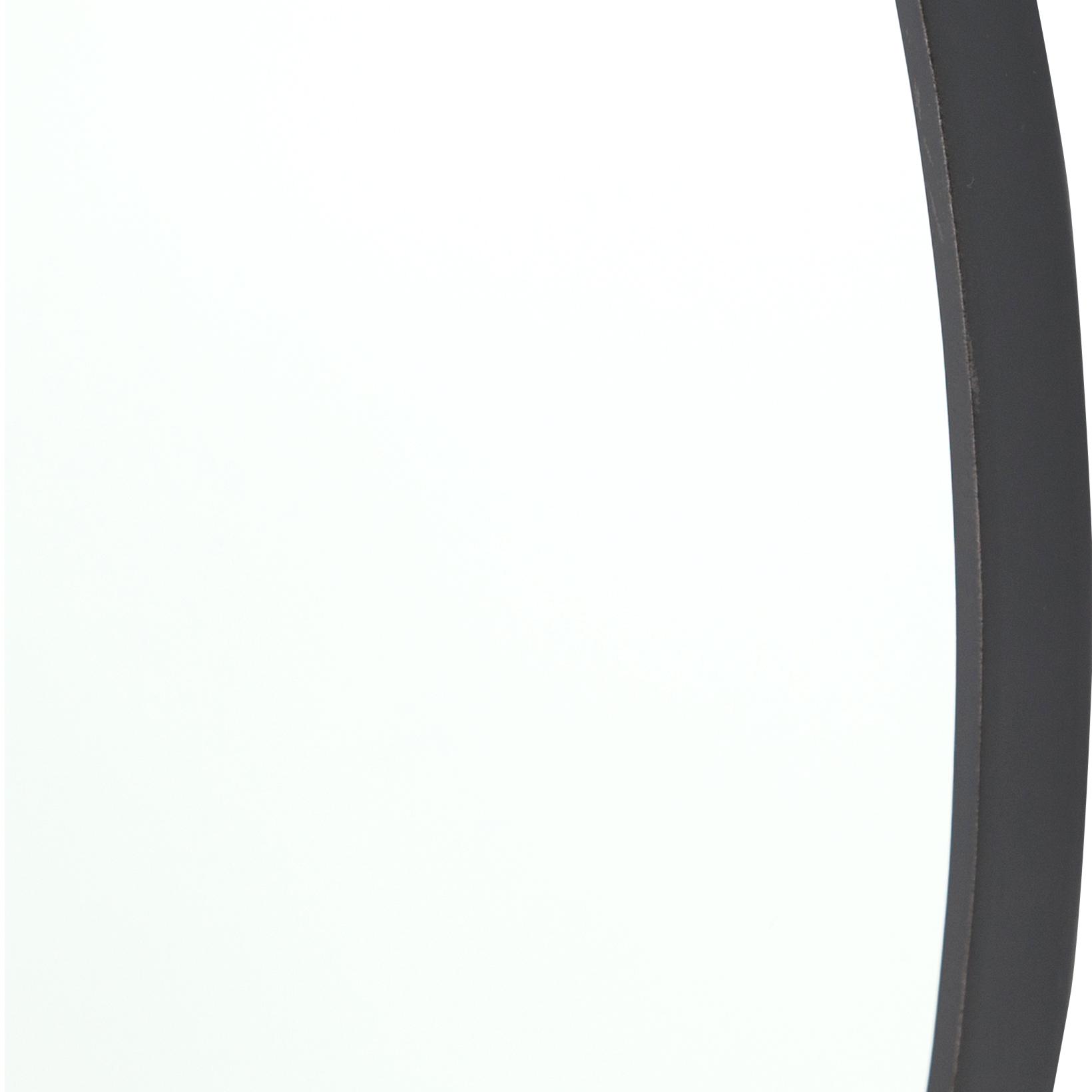 Dawes Industrial Loft Iron Round Pendant Wall Mirror