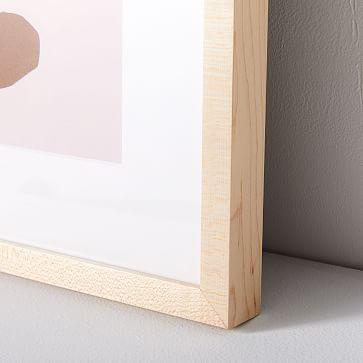 "Kate Arends Framed Print, Leaf, White, 11""x14"""