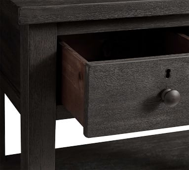 Farmhouse 2-Drawer Nightstand, Charcoal