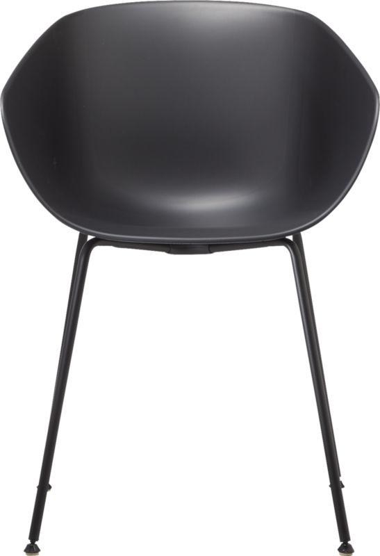 Poppy Black Plastic Chair
