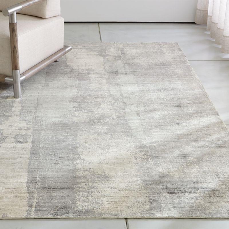 Tottori Grey Abstract Rug 10'x14'