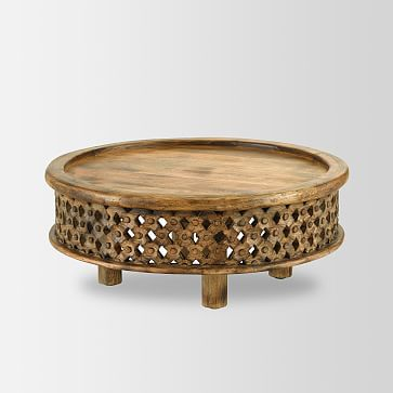 Carved Wood Coffee Table, Cafe