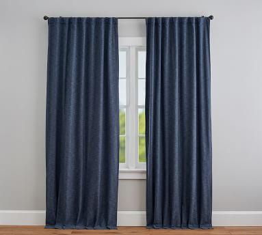 "Seaton Textured Blackout Curtain, 96"", Gray"