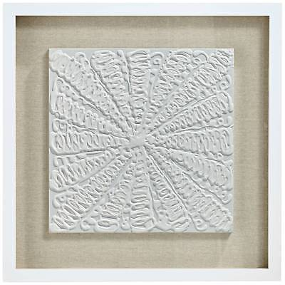 """White Out 23 3/4"""" Square Framed Wall Art Set Of 2"""
