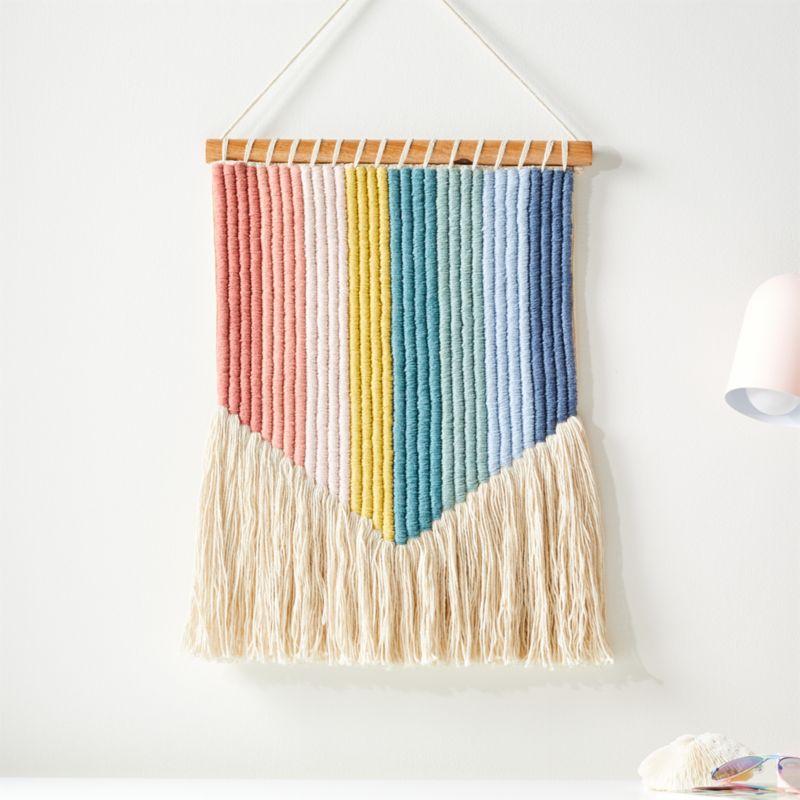 Vertical Rainbow Wall Hanging