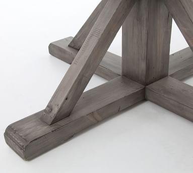 """Hart Extending 48"""" Dining Table, Driftwood/Limestone White"""