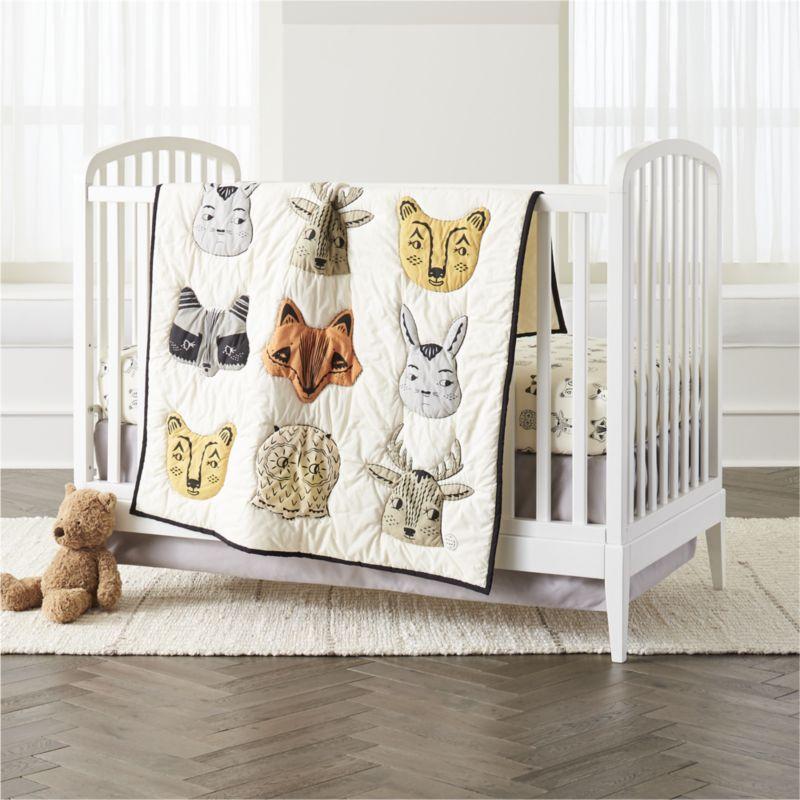 Organic Roxy Marj Woodland Animal Crib Fitted Sheet