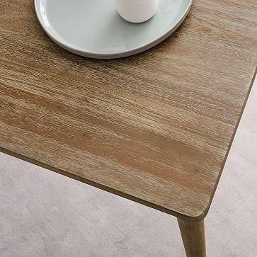"""Modern Farmhouse Expandable Dining Table, Carob,62""""-82"""""""