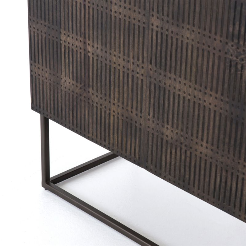 Ivan Wood and Iron Media Console