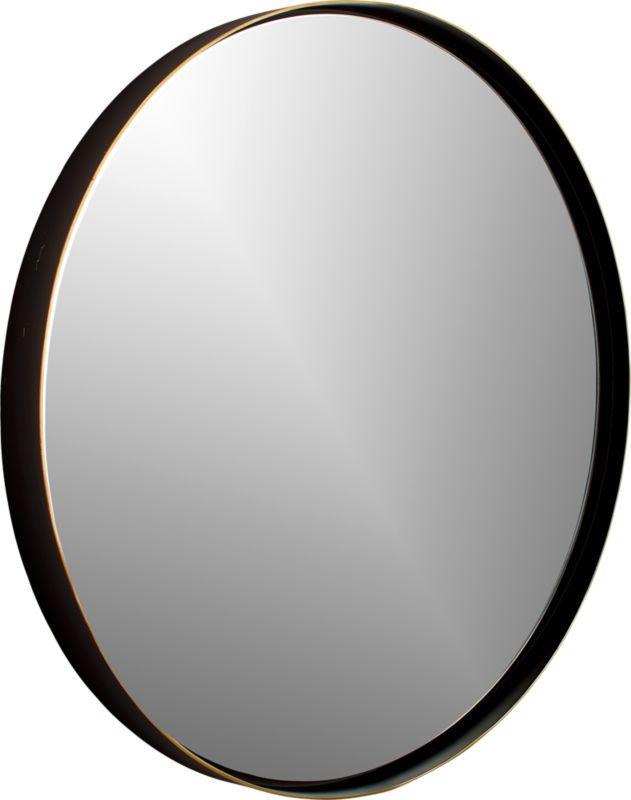 """Shadow Circle Wall Mirror 32.5"""""""
