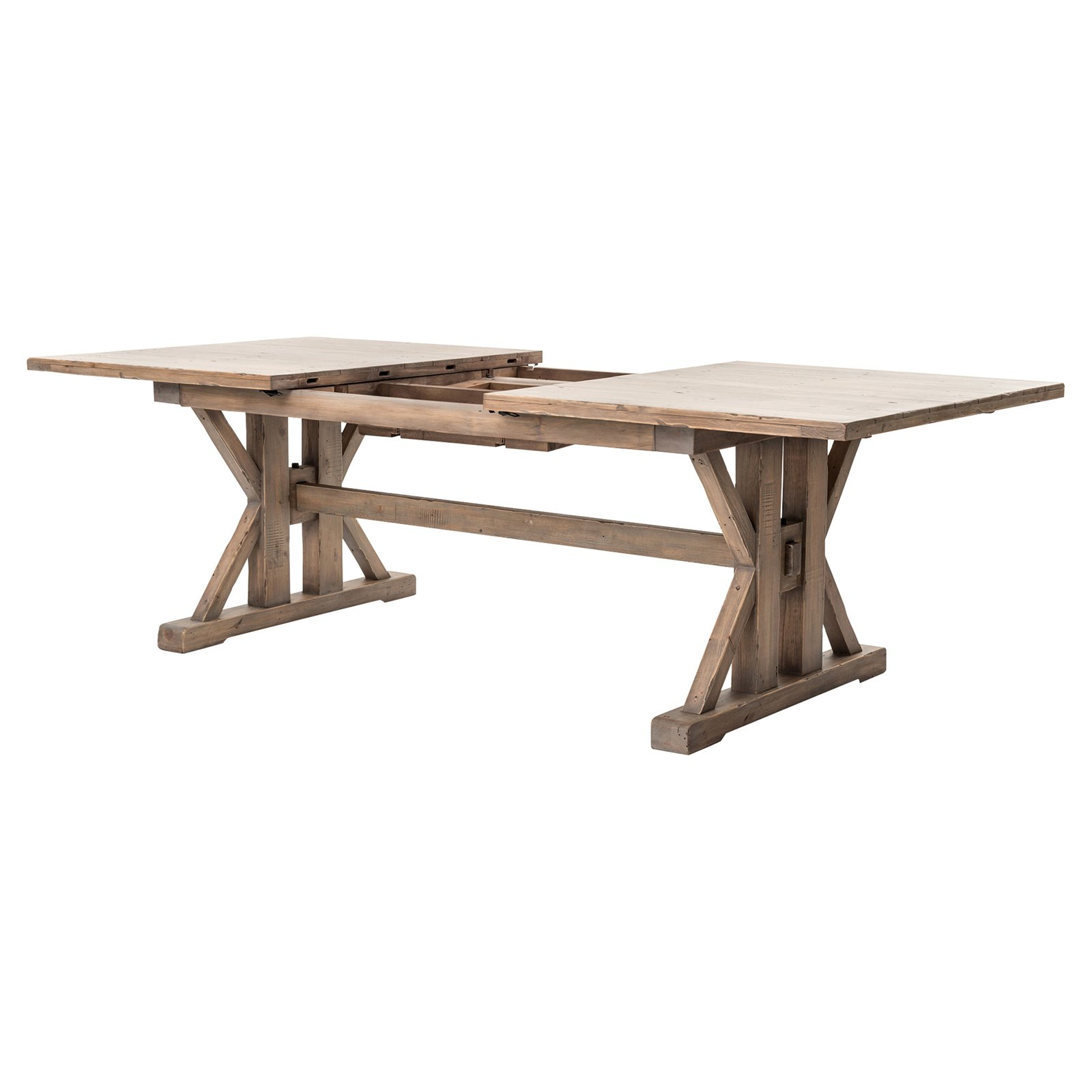 Lyle Lodge Reclaimed Pine Adjustable Dining Table