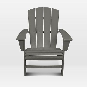 Polywood x West Elm Adirondack Chair, White