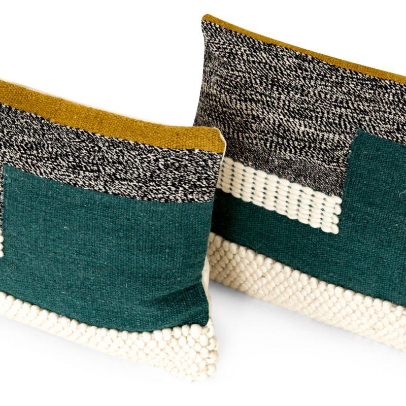"""Telma Color Block Lumbar Pillows 24""""x16"""", Set of 2"""