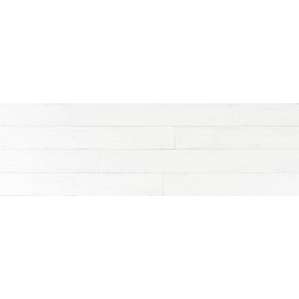 1/4 in. x 5.1 in. x Varying Lengths Weathered White HDF Maple Shiplap Wall Plank (20.3 sq. ft./Carton)