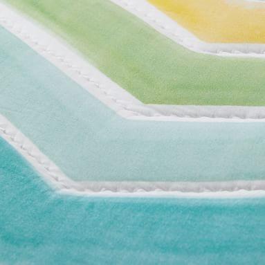 Rainbow Chevron Quilt, Full/Queen, Multi
