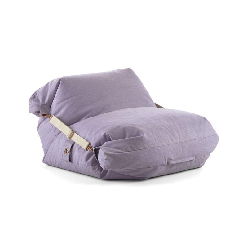 Adjustable Light Purple Bean Bag Chair