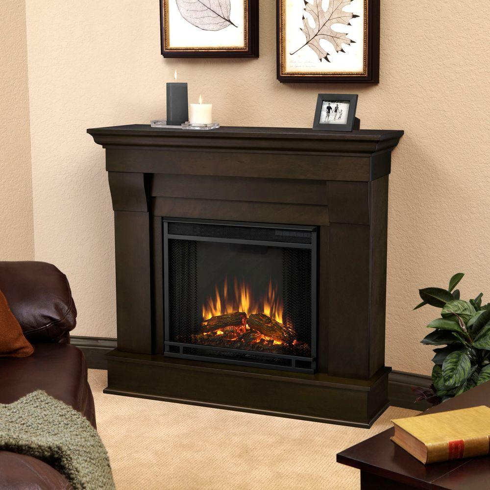 Chateau 41 in. Electric Fireplace in Dark Walnut (Brown)