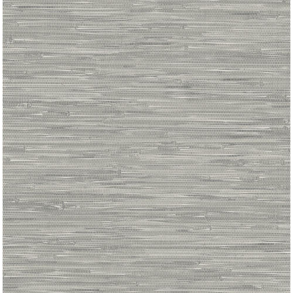 Grey Tibetan Grasscloth Peel and Stick Wallpaper