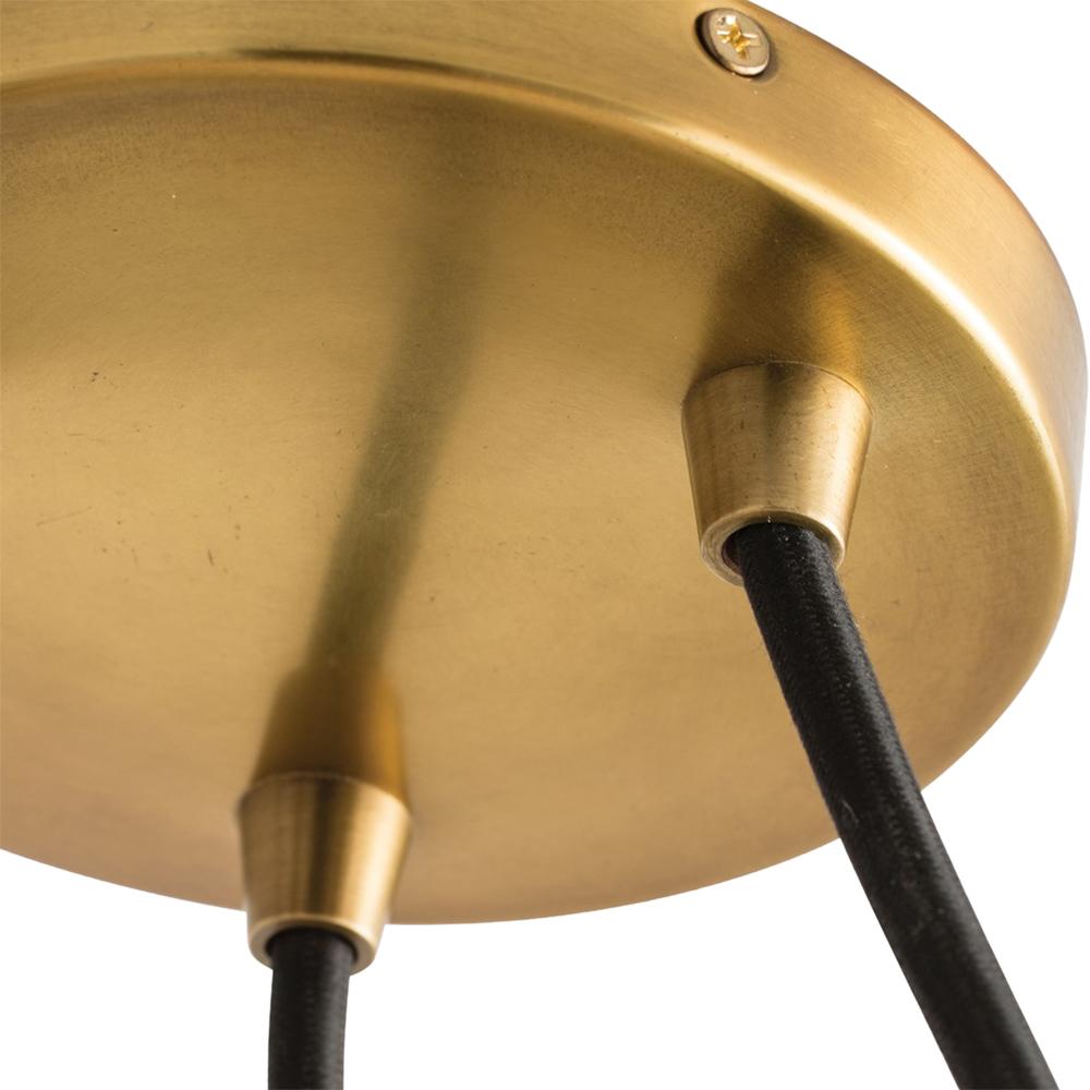 Winters Modern Classic Black Drum Brass Pendant