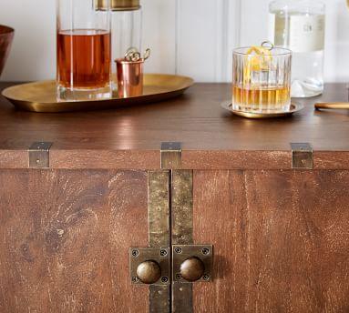 Timor Bar Cabinet, Antique Brown