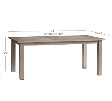 Chatham Rectangular X-Large Extending Dining Table, Gray